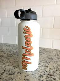 Layered Vinyl Custom Name Decal For Hydro Flask Yeti Water Bottle De Happy Tuesday Boutique