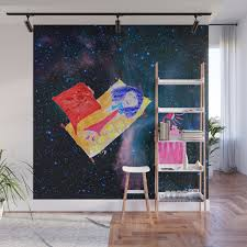 The Universe Is Our Home Kids Room Up To The Space Cosmos Wall Mural By Azima Society6