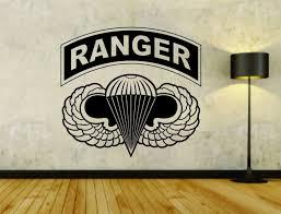 Army Ranger Logo Military Soldier Uniform Vinyl Wall Decal Sticker Car Window Vinyl Wall Decals Wall Decal Sticker Car Decals Vinyl