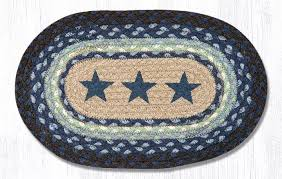 blue star braided jute tablemat the