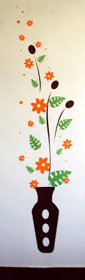 Flower Vase Wall Decal African Eye Crafts