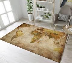 Retro World Map Living Room Floor Decor Mat Yoga Carpet Kids Crawling Area Rugs Ebay