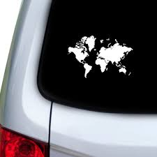 Amazon Com Stickany Car And Auto Decal Series Detailed Earth Sticker For Windows Doors Hoods White Automotive
