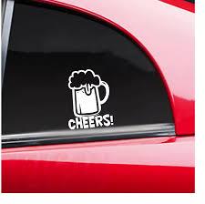 Cheers Beer Mug Funny Car Window Decal Bumper Sticker Bar Celebration Rear Window Car Sticker N208 Wall Stickers Aliexpress