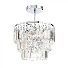 crystal bar semi flush ceiling light