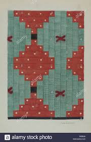 Log Cabin Quilt. Dated: c. 1941. Dimensions: overall: 29 x 20 cm (11 7/16 x  7 7/8 in.). Medium: watercolor and graphite on paper. Museum: National  Gallery of Art, Washington DC. Author: Ada Barnes Stock Photo - Alamy