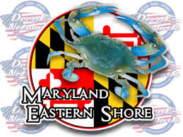 Maryland Eastern Shore Series Vinyl Decal Blue Carb Design