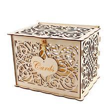 wooden wedding card box diy gift card