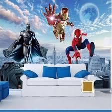 Custom Photo Wallpaper 3d Wallpaper Hd Cartoon Kids Room Bedroom Living Room Big Superman Batman Big Wa Kids Bedroom Wallpaper Kids Room Wallpaper 3d Wallpaper
