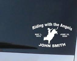 Bull Rider Decal Etsy