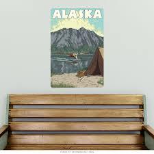 Alaska Outdoors Fishing Trip Wall Decal At Retro Planet