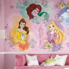Disney Princess Wall Mural Argos Decals Tiana Princesses Art Wallpaper Vamosrayos