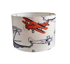 Airplane Lamp Shade Baby Boy Nursery Orange Lampshade Boys Room Vintage Air Maya Macon Premier Prints Table Lamp Kids Lamp Shade