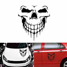 White Skull Decal Vinyl Large Graphic Sticker For Car Semi Tailgate Window Hood Ebay