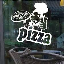 New Arrival Pizza Sticker Milk Tea Glass Decoration Kitchen Decor Wall Sticker Pizza Art Wall Decals Wish