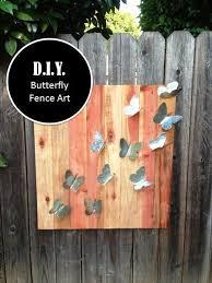 On The Fence Fence Art Garden Fence Art Diy Fence