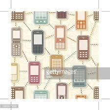 seamless retro mobile phone wallpaper