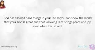 francis chan quote about great life peace things all