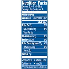 pillsbury crescent rolls reduced fat 8