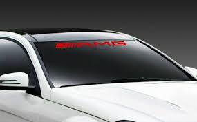 Amg Mercedes Benz C55 E55 Cls63 Racing Windshield Decal Sticker Emblem Logo Red Windshield Mercedes Benz Benz