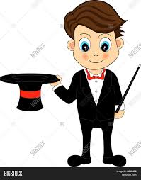 Cute Cartoon Magician Vector & Photo (Free Trial) | Bigstock
