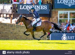 Hickstead, Sussex, UK. 26th July 2018. 4th Place. Abigail Walters riding  Perfick Miss Amber. GBR. The