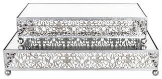 rectangular mirror top decorative tray