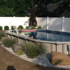 Semi Inground Pool Home Products On Houzz Above Ground Pool Landscaping Inground Pool Landscaping Backyard Pool Landscaping