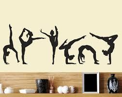 Six Dance Girls Gymnastics Wall Sticker Sport Wall Decals Vinyl Art Mural For Home Girls Kids Room Decoration Wall Decoration Wall Stickers Aliexpress