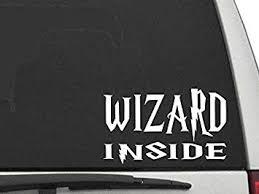 Amazon Com Decal Dan Wizard Inside Vinyl Car Truck Window Decal Sticker Laptop Automotive