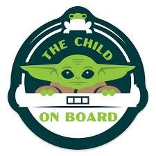 The Child On Board Car Magnet Star Wars The Mandalorian Shopdisney