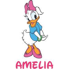Daisy Duck Mickey Donald Disney Customized Wall Decal Custom Vinyl Wall Art Personalized Name Baby Girls