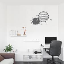 Bursting Golf Ball Wall Decal
