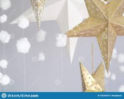 Cozy Still Life 3d Stars And Cotton Clouds Hanging Decoration For Kids Room Illustration For Fairy Tales Background Stock Image Image Of Baby Bauble 163738379
