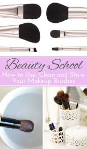 and clean makeup brushes