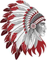 Amazon Com Red And White Native American Indian Chief In Headdress Vinyl Decal Sticker 4 Tall Arts Crafts Sewing