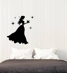 Vinyl Wall Decal Silhouette Princess Little Girl Room Fairy Tale Stick Wallstickers4you