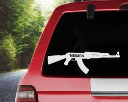 2 Ak 47 Stickers Decal Gun Rights Nra Gun 2nd Amendment Car Truck Window Laptop