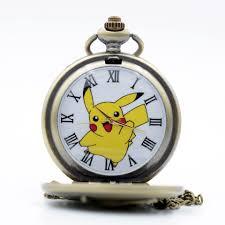 New Cool Pikachu Game Boy Pokemon Pocket Monsters Quartz Pocket Watch  Analog Pendant Necklace Men Women Watches Chain Boy Gift Pocket & Fob  Watches