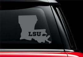 Lsu Tigers Decal Vinyl Car Truck Window Sticker Louisiana State Geaux Pick Size Rainbowlands Lk