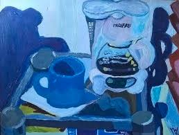 Coffee On An Early Morning Painting by Yvonne West