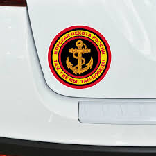 Aliauto Cool Car Sticker Emblem Of Marine Corps Of Russia Cover Scratches Pvc Decal For Motorcycle Mitsubishi Lada 14cm 14cm Car Stickers Aliexpress