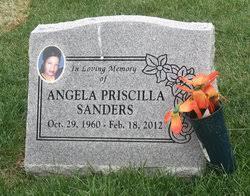 Angela Priscilla Sanders (1960-2012) - Find A Grave Memorial