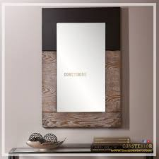 wall decor mirror with wooden frame