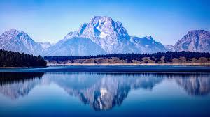 blue mounns landscape 8k wallpaper