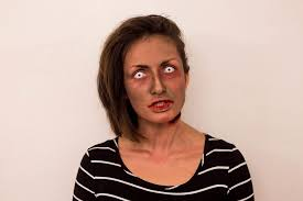 simple zombie makeup tutorial and