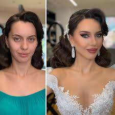 their wedding makeup