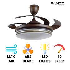 fanco f1153 retractable ceiling fan max