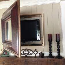 diy mirror box to hide mounted tv did