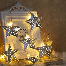 Amazon Com Eambrite Metal Star String Lights 10 Led Warm White Fairy Lights Battery Operated Indoor Decoration For Easter Birthday Wedding Window Desk Mantelpiece Party Kids Room Bedroom Home Improvement